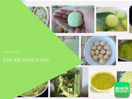 Cách nấu chè bột báng lá dứa